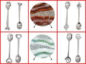 Elegant Salad Servers and Bowls