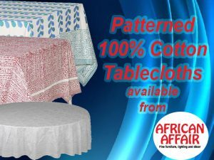 100% Cotton Tablecloths in South Africa