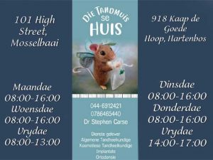 Dentist in Mossel Bay and Hartenbos