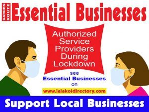 Essential Businesses in the Garden Route
