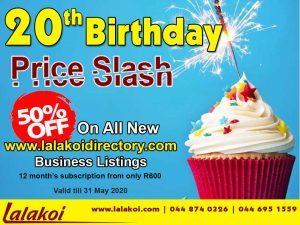 Lalakoi's 20th Birthday Price Slash