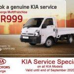 Genuine KIA Service Special in George