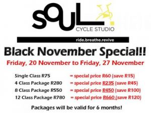 Soul Cycle Studio Black Friday Special