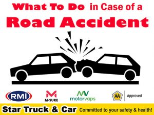 Star Truck Car Road Accident
