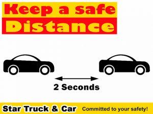 Star Truck Car Safe Distance