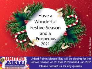 United Paints Mossel Bay Festive Season 2020