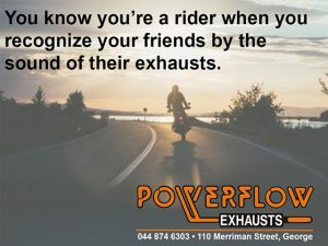 You know youre a rider Powerflow
