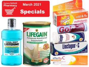 Geneva Pharmacy George March 2021 Specials