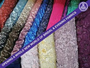 Bridal and evening fabrics Fabric World
