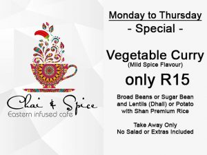 Chai and Spice Vegatable Curry Special