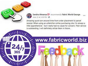 Feed Back Fabric World George
