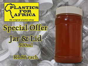 Plastic Jar with Lid Special in George