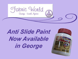 Non Slide Paint On Solution form Fabric World in George