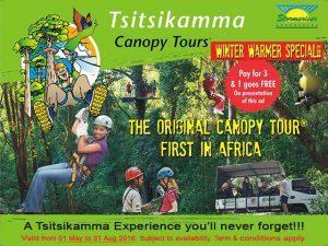 Tsitsikamma Canopy Tours Winter Special 2016