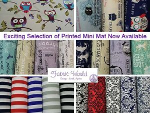 Printed Mini Mat Now Available at Fabric World in George