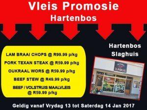 Slaghuis Vleis Promosie in Hartenbos