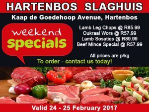 Butchery Special Offers Hartenbos 24 February 2017