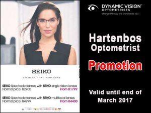 Seiko Promotion at Hartenbos Optometrist