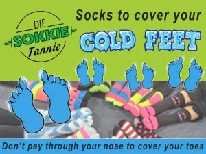Socks to cover your cold toes in Hartenbos