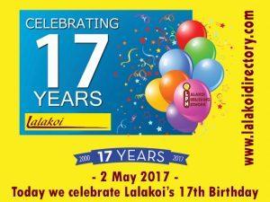 Lalakoi celebrates our 17th birthday
