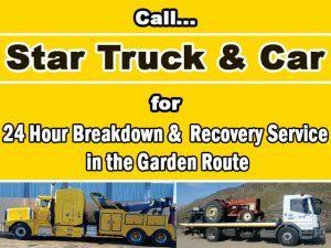 24 Hour Breakdown Service in the Garden Route