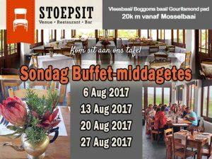 4-Gang Sondag Buffet Middagete Mosselbaai