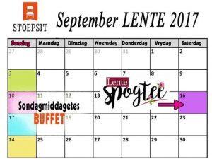 Stoepsit Restaurant Lente Kalender 2017