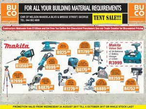 Promotion on Building Materials at BUCO in George