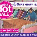 Fabric World Pink Dot Sale